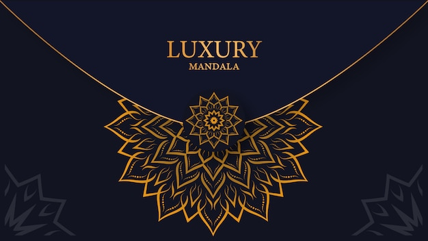Luxury mandala arabesque ornamental background