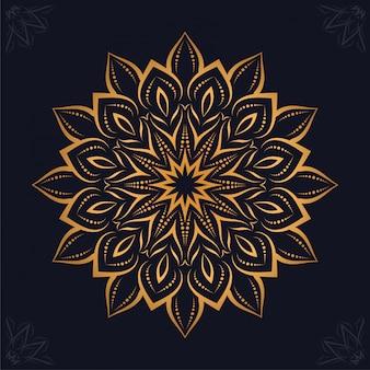 豪華なマンダラアラベスク装飾的な背景