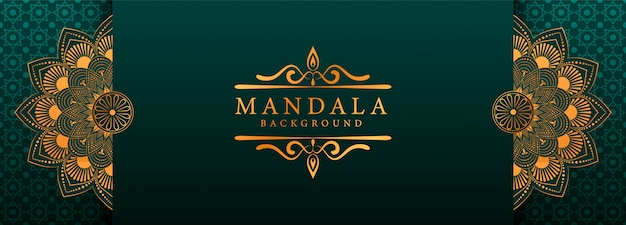 Luxury mandala arabesque web banner style background