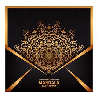 Luxury mandala art for wedding invitation