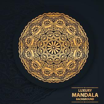 Luxury mandala art with geometric circle