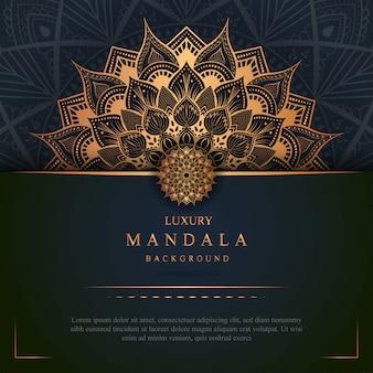 Luxury mandala art with golden background east style 2