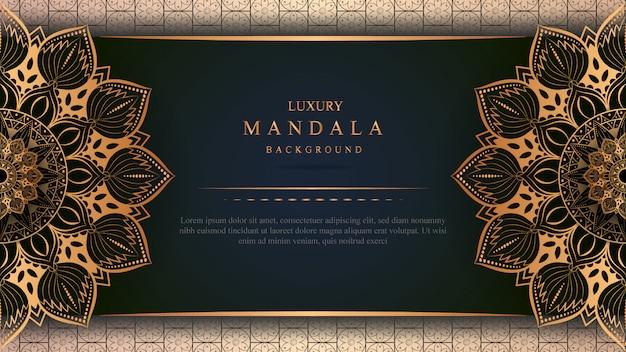 Luxury mandala art with golden background east style 8