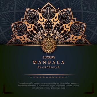 Luxury mandala art with golden background east style 9