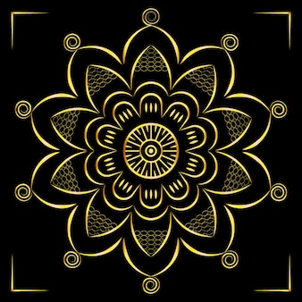 Luxury mandala art with golden design east style