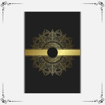 Роскошный фон мандалы, стиль арабески.