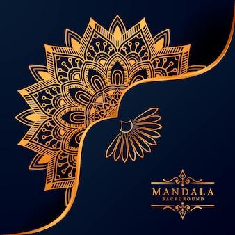 Luxury mandala background for book cover wedding invitation