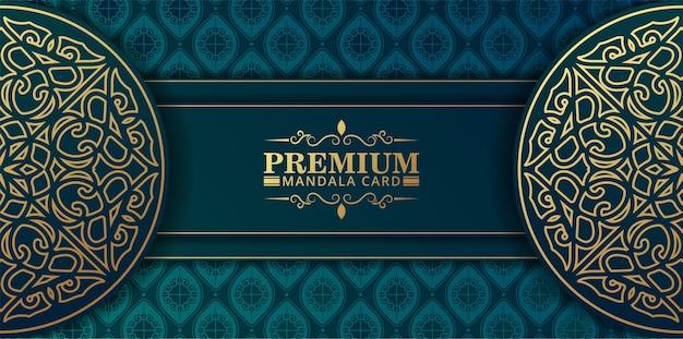 Luxury mandala background concept