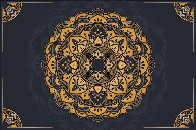 Luxury mandala background concept