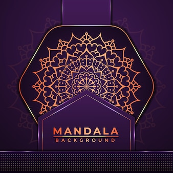 Luxury mandala background design with golden color arabic islamic style decoration