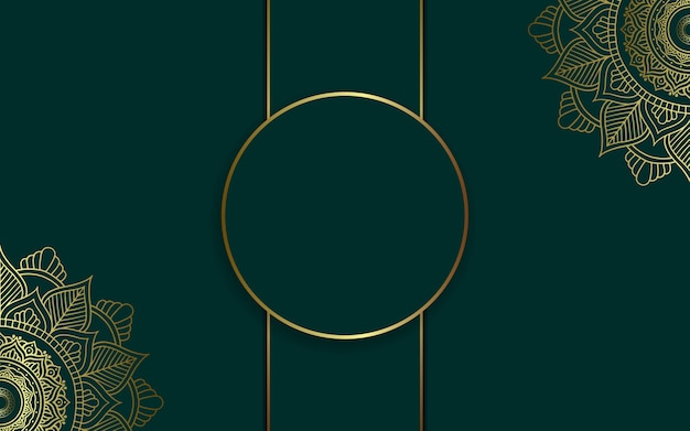 Роскошный фон мандалы для обложки книги