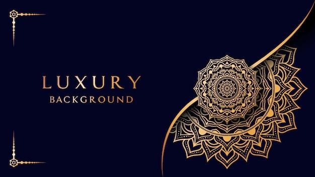 Luxury mandala background.golden mandala illustration background