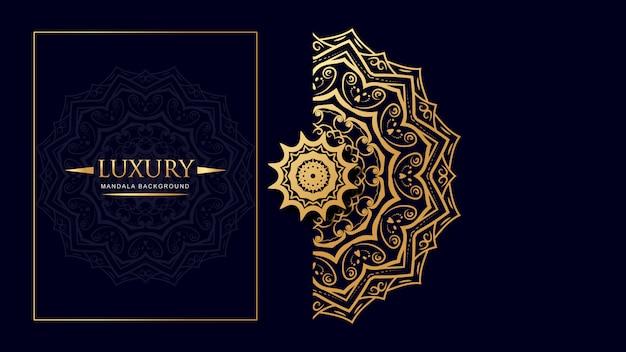 Luxury mandala background with arabic art