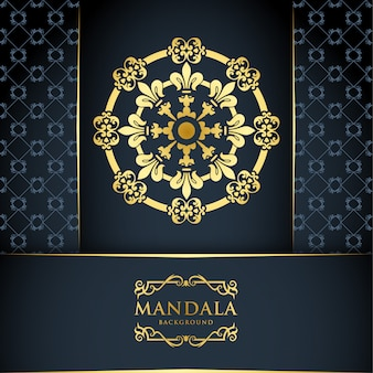 Luxury mandala background with gold ornament pattern, islamic arabic style.