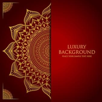 Luxury mandala background with golden arabesque decoration arabic islamic east style