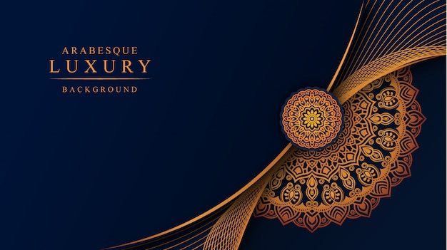 Luxury mandala background with golden arabesque decoration
