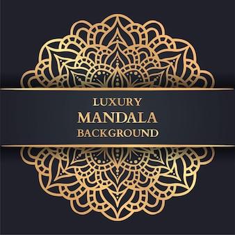 Luxury mandala background with golden arabesque, decorative mandala, luxury ornament template