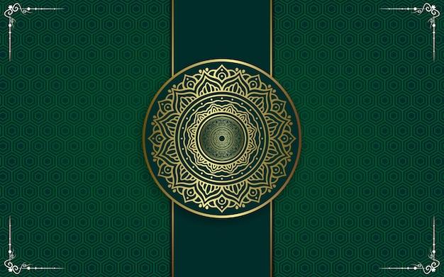 Роскошный фон мандалы с золотым арабеском восточного стиля.