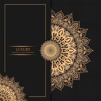 Роскошный фон мандалы с золотым узором арабески арабский исламский дизайн