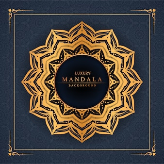 Luxury mandala background with golden arabesque pattern arabic islamic east style premium vector
