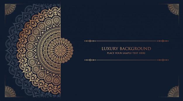 Luxury mandala background with golden arabesque pattern arabic islamic east style