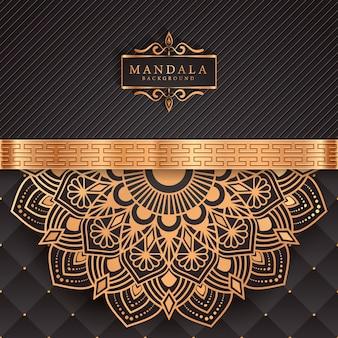 黄金アラベスクパターンアラビアイスラムスタイルの高級マンダラ背景