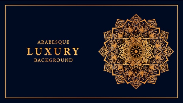 Luxury mandala background with golden arabesque pattern of arabic style