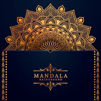 Luxury mandala background with golden arabesque pattern  east style