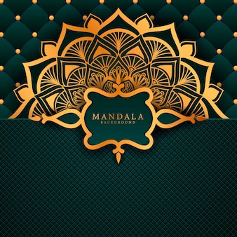 Luxury mandala background with golden arabesque pattern a