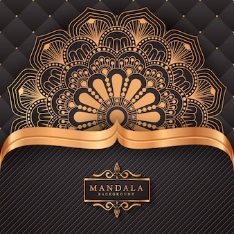 Luxury mandala background with golden arabesque pattern
