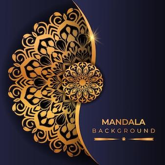 黄金色のアラビア風の豪華な曼荼羅の背景