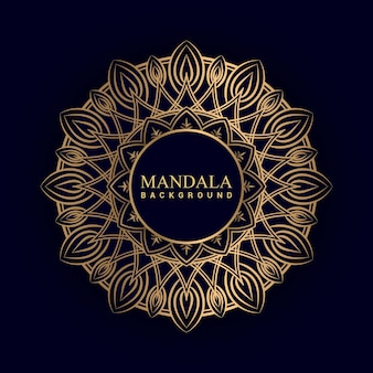 Luxury mandala background with golden color premium vector