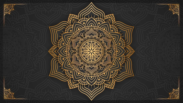 Luxury mandala background with golden decoration