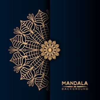 Luxury mandala background with golden style