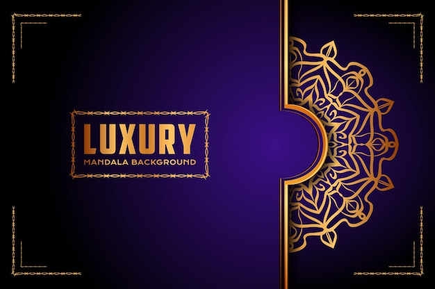 Роскошный баннер мандалы, стиль арабески.