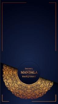 Luxury mandala blue background