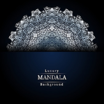Luxury mandala blue background