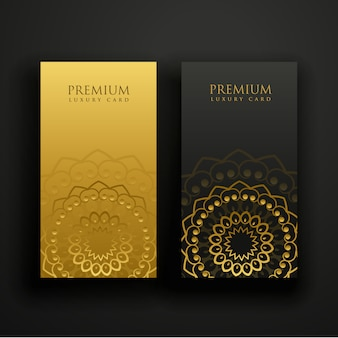 Luxury mandala business card design