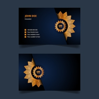 Luxury mandala business card template design