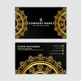 Luxury mandala business card template