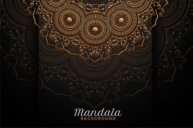 Luxury mandala decoration on black