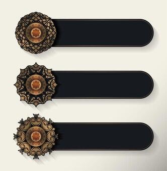 Роскошный дизайн декоративного баннера мандалы