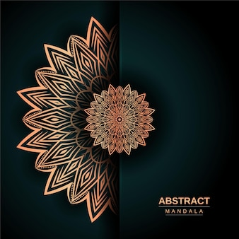 Luxury mandala design template with golden color