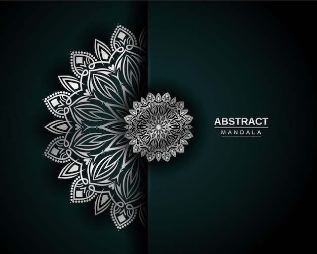 Luxury mandala design template with silver color