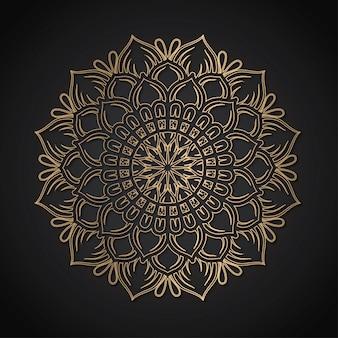 Luxury mandala gold line