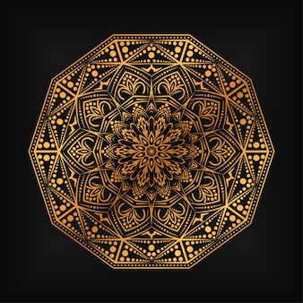Luxury mandala illustration design