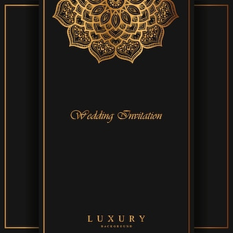 Luxury mandala invitations