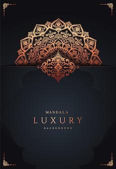 Luxury mandala modern background premium vector