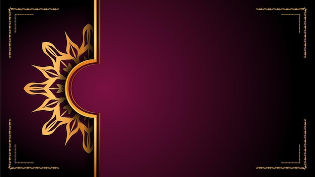 Luxury mandala ornamental background design with golden arabesque pattern style.