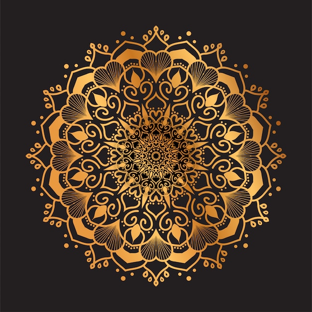 Роскошный образец мандалы арабский исламский стиль фона